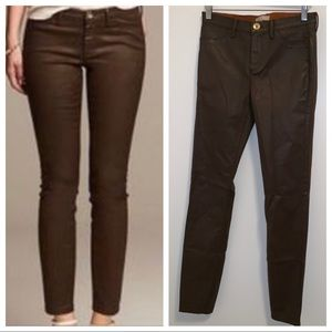 Banana Republic Luxe brown coated pants-27L